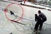 郑州俩男子凌晨醉酒不慎坠湖 民警跳入刺骨的冰水救人