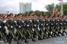 三军仪仗队亮相白俄