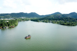 """浙江杭州:台风""""摩羯""""过境后 鸟瞰西湖美景"""