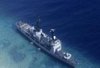 菲律宾最大战舰搁浅中国南沙半月礁 6天后终于拖走了