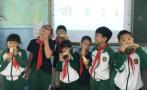 啃和嚼有何区别?杭州小学老师老家地里挖甘蔗带进课堂当教具