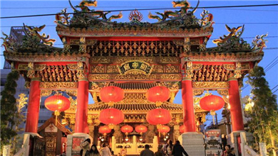 横滨百年中华街 张灯结彩迎新年 全球共庆春节