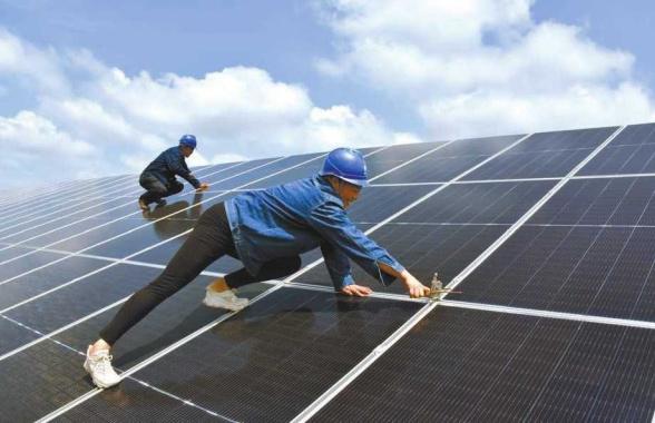 河南正阳:光伏发电助农增收