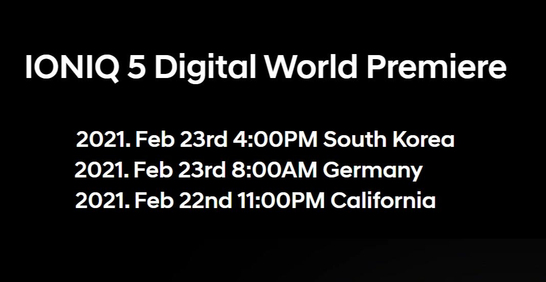 IONIQ 5将于2月23日正式发布 或于6月底交付