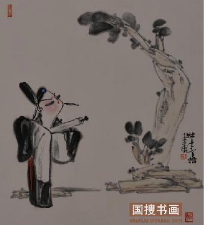 《山水》入选《首届中国写意画作品展》 ; 2007年 中国画《太行苍秋图图片