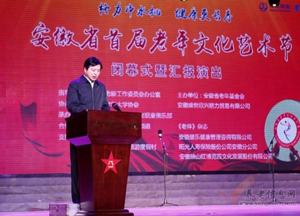 安徽省首届老年文化艺术节闭幕式暨汇报演出成功举办