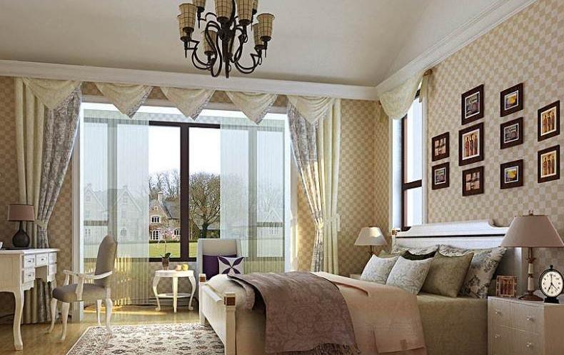 这是一个欧式装修的卧室