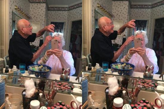 比挽起白发更虐的是 奶奶的口红比我多!