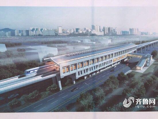 腹型 济南首座地铁站露真容 R1线前大彦站主体明日完工图片