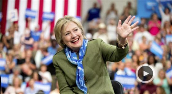 美总统大选:希拉里支持率领先优势明显