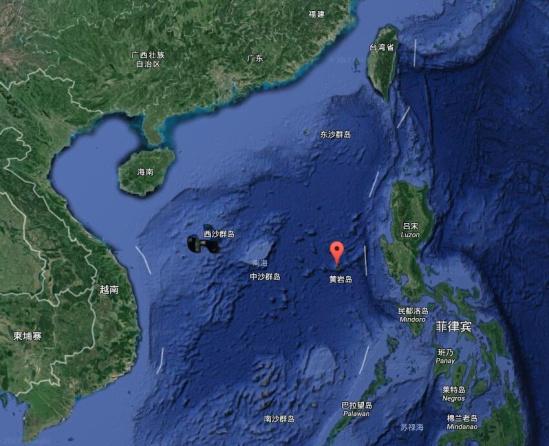 黄岩岛地理位置-交通部 黄岩岛搁浅渔船残骸已被清除 曾有19人被困