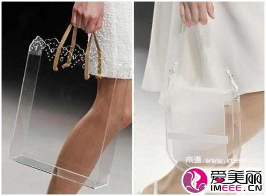 透明/以及拎在手里的透明袋子。