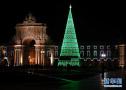 巨型圣诞树被点亮