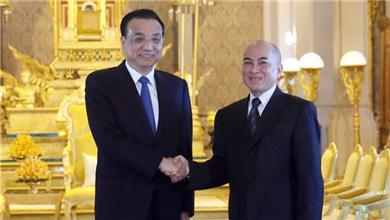 李克强会见柬埔寨国王