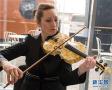豪!琥珀制成小提琴