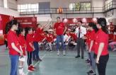朱婷归国助阵康师傅小小排球训练营 圆儿时当老师的梦想