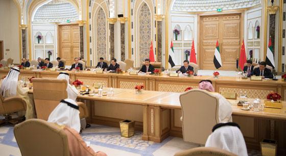 习近平同阿联酋副总统兼总理、阿布扎比王储会谈