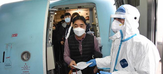 青岛机场严格防控疫情