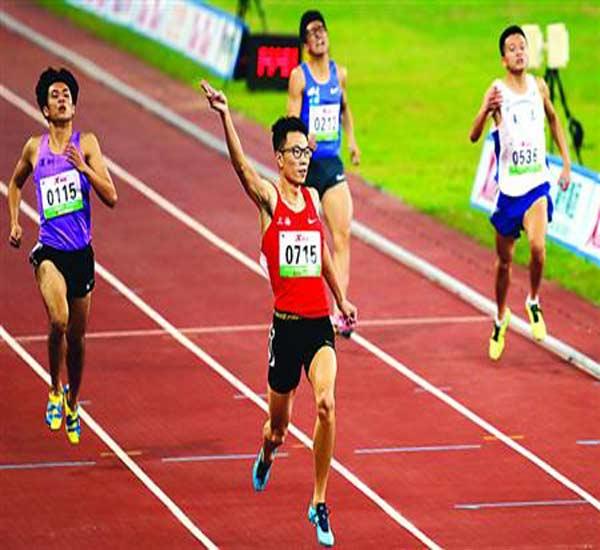 抚顺籍田径运动员郭钟泽代表上海出战全国青运