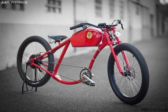 折叠电动自行车,该设计放弃了传统自行车的管状结构