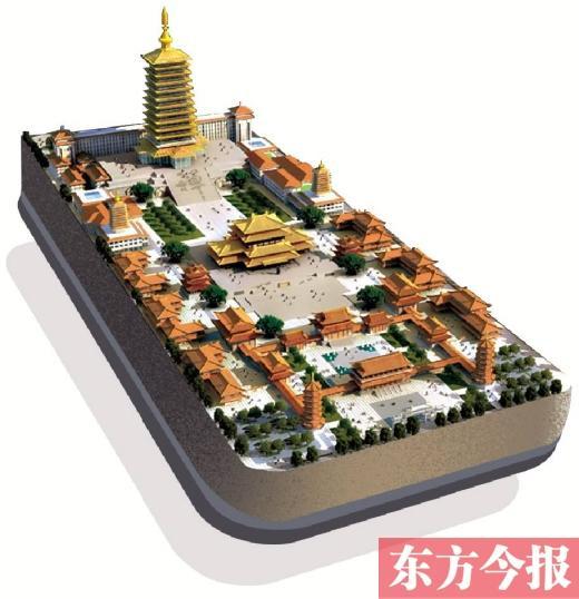 """作为郑州八景之一,素有""""古塔晴云""""之称的开元寺塔"""