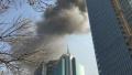 济南:草岭一小区、中心一在建高楼26日先后发生火灾