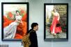 当代朝鲜油画南京巡展 画里最多的就是女性和虎