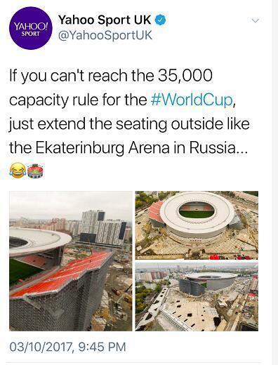 世界杯场地不合格?俄罗斯人就这么耿直的解决了