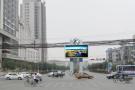 石家庄路口设显示屏 显示遥测超标车辆信息