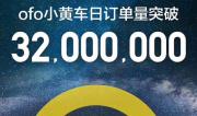 ofo小黄车宣布日订单破3200万