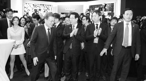 文在寅14日在北京出席中韩经贸合作交流会