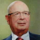 世界经济论坛主席施瓦布肖像