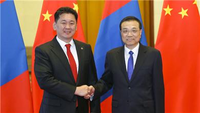 李克强同蒙古国总理举行会谈