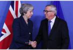 """容克重申欧盟不会与英国就""""脱欧""""协议重新谈判"""