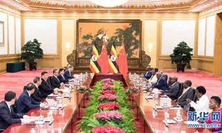 习近平同乌干达总统举行会谈
