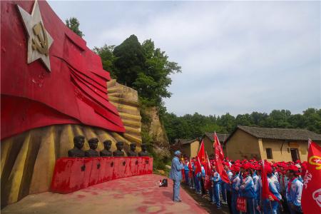 河南光山:讲述红军故事 传承红色基因