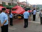 贾汪区潘安湖街道开展占道经营整治行动