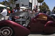 美比弗利山庄举行古董车展 各式老爷车亮相