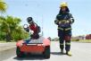 我省消防部队举行石油化工跨区域拉动演练