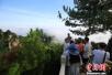 雨过天晴后 天子山云海景观让游客流连忘返