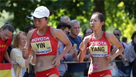 女子50公里竞走:中国获银牌铜牌