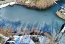 河南白龟湖雪后冰封似天青