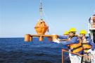 中巴考察船 施放地震仪