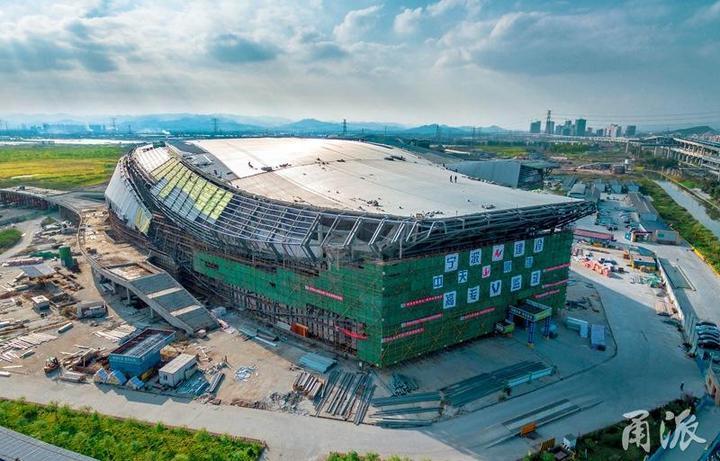 """宁波奥体中心就要来了 """"三馆一园""""将于9月完工图片"""