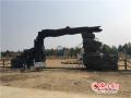 桓台红莲湖游乐园项目设施现雏形 预计明年五一竣工