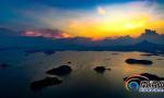夕阳下的宝岛明珠