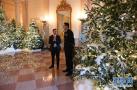 白宫圣诞装饰亮相