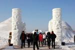 今年沈阳景区文明旅游成自觉 损坏冰雕雪雕的没了