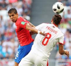 Kolarov strike secures Serbia win against disappointing Costa Rica