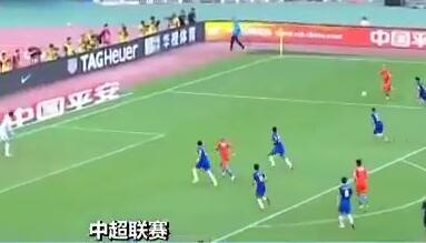中超联赛 山东鲁能主场3:1击败上海申花
